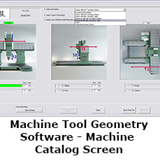 Machine Tool Geometry Software - Machine Catalog Screen