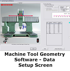 Machine Tool Geometry Software - Data Taking Screen