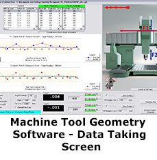 Machine Tool Geometry Software - Data Setup Screen