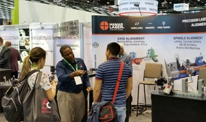 Ron Sullivan with show-goers from an auto accessories manufacturing company in Mexico