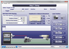 S-1404 Lathe9 Alignment Software - Step 1 Setup Screen