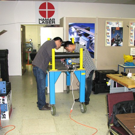 Hands-on laser alignment training