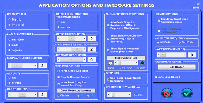 Couple6 Application Options and Hardware Settings