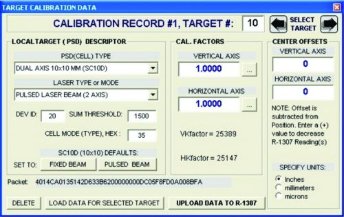 S-1410 R-1307 Calibration Software for Cabled Targets for Win 7/8/8.1/10